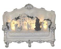 Seizis Gauč bílý s LED světly dekorační, 21 cm