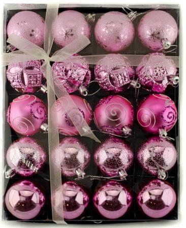 Seizis Súprava 20 gulí, ružové - 6 cm