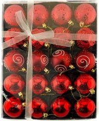 Seizis Set 20 koulí, červené - 6 cm