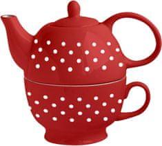 Toro Konvička na čaj se šálkem bílé tečky