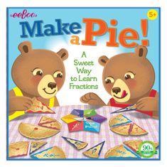 eeBoo Společenská hra - Upeč koláč a nauč se zlomky