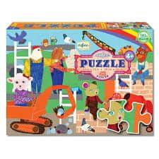 eeBoo Puzzle - Zvířátka v práci 42 dílků
