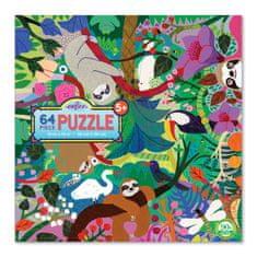 eeBoo Puzzle Lenochodi 64 dílků
