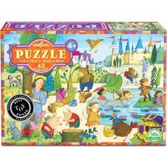 eeBoo Puzzle Tajemný les - 42 dílků