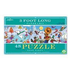 eeBoo Panoramatické puzzle - Sněžná party - 36 dílků
