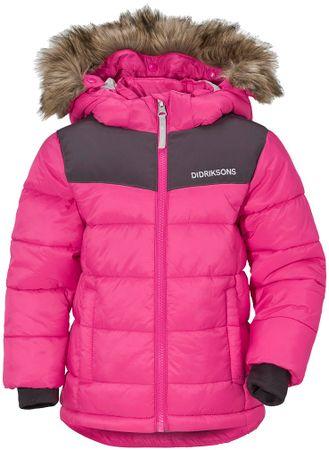 Didriksons1913 dievčenská bunda DIGORY 80 ružová