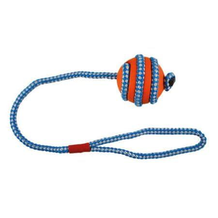 IMAC Gumijasta kroglica za psa, oranžno modra, 5 cm