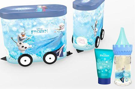 EP LINE Disney Frozen II - EDT 50 ml + sprchový gel 75 ml + plechový vagónek