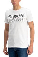 Trussardi Pánske tričko Jersey Regular Fit 52T00277-W001 White