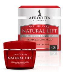 Kozmetika Afrodita Natural Lift, krema za suho kožo, 50 ml