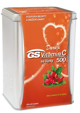 GreenSwan GS Vitamín C 1000 + šípky 120 tabliet v plechovej krabičke