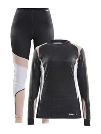 Craft Baselayer Set W ženski športni komplet, XS, črn/roza