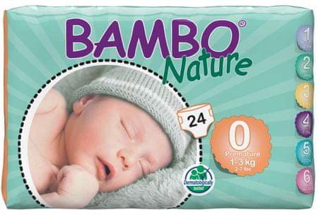 Bambo Nature Otroške hlačne plenice 0 Premature (1-3 kg), 24 kosov