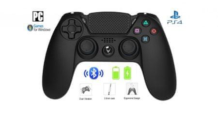 Omega OGPPS4 brezžičniGamepad PS4/PC, črn