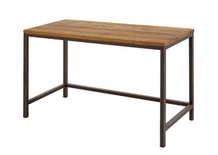Danish Style Pracovný stôl s drevenou doskou Harvest, 120 cm