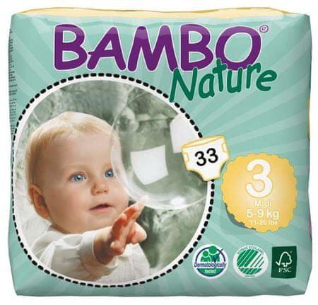 Bambo Nature Otroške hlačne plenice 3 Midi (5-9 kg), 33 kosov