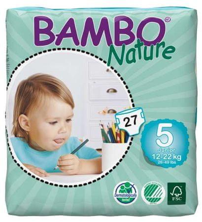 Bambo Nature Pieluchy 5 Junior (12-22 kg) 27 szt