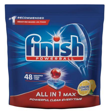 Finish Allin1 Max Lemon tablete za pomivalni stroj, 48 kosov