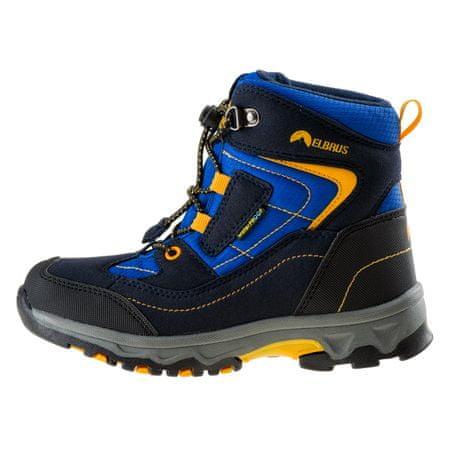 ELBRUS otroški zunanji čevlji Livan Mid WP JR navy/black/lake blue/corn, 30, modra/črna/siva/rumena