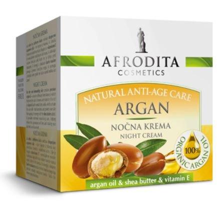 Kozmetika Afrodita Argan, nočna krema, za suho in zahtevno kožo, 50 ml
