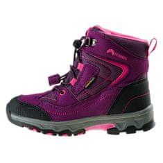 ELBRUS dětská outdoorová obuv Livan Mid WP JR violet/dark violet/light fuchsia
