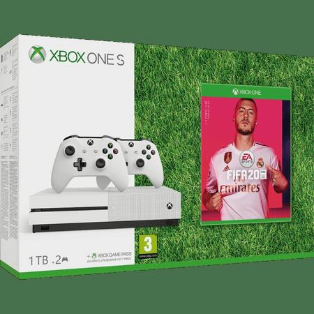 Microsoft Xbox One S 1 TB + 2× brezžični krmilnik + FIFA 20
