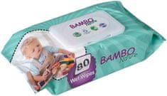 Bambo Nature Nedves törlőkendő 80 db