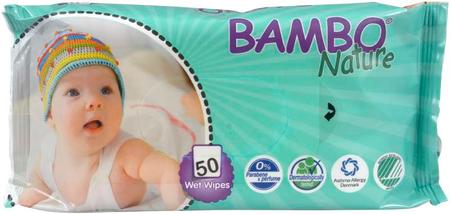 Bambo Nature Chusteczki nawilżane 50 szt