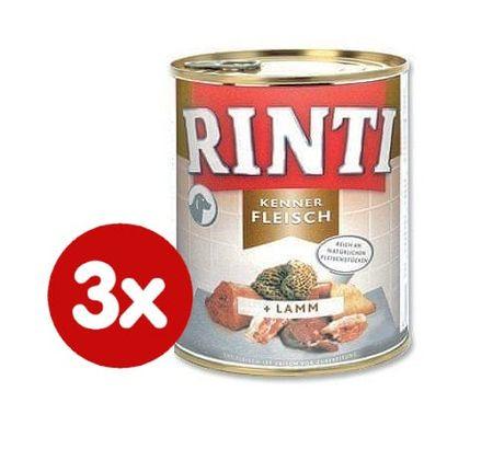 RINTI konzerv kutyaeledel bárányhússal 3x800g