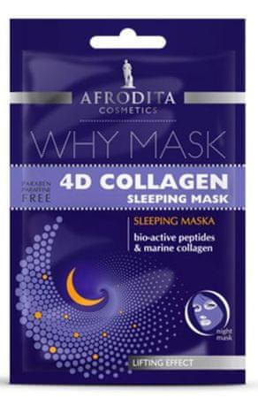 Kozmetika Afrodita Why Mask, 4D Collagen Lifting Effect nočna maska, 2x 6 ml