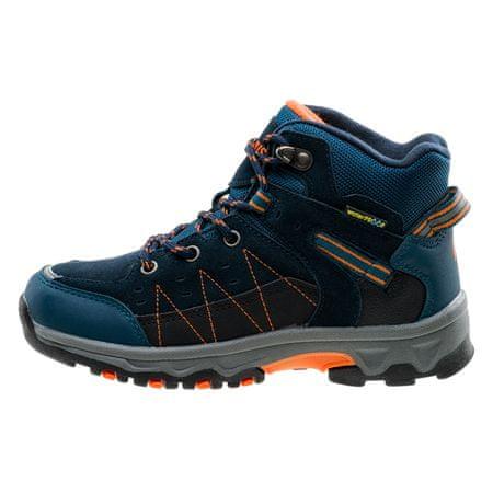 ELBRUS pohodniški čevlji Penaz Mid WP JR navy/peacock blue/black/orange, 28, modri/oranžni/sivi