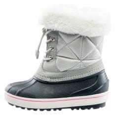 Iguana dievčenské topánky Firenze MID KIDS G LIGHT GREY / WHITE / PINK