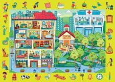 Trefl Puzzle s hledáním obrázků Sídliště 70 dílků