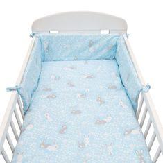 NEW BABY 3-dílné ložní povlečení New Baby 90/120 cm Králíčci modré