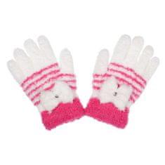 NEW BABY Dětské zimní froté rukavičky New Baby bílé - 110 (4-5r)