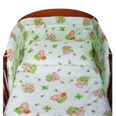 NEW BABY 2-dílné ložní povlečení New Baby zelené s medvídkem - 100/135 cm