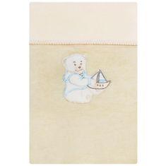 Womar Dětská deka Womar 75x100 béžová medvídek s lodičkou