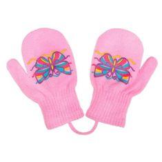 NEW BABY Dětské zimní rukavičky New Baby s motýlkem světle růžové - 98 (2-3r)