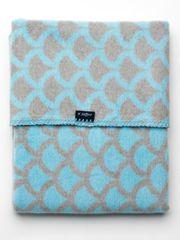 Womar Dětská bavlněná deka se vzorem Womar 75x100 modro-šedá