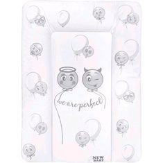 NEW BABY Přebalovací podložka měkká New Baby Emotions bílá 70x50cm