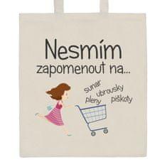 NEW BABY Bavlněná nákupní taška přírodní s potiskem New Baby
