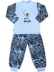 NEW BABY Dětské bavlněné pyžamo New Baby Zebra s balónkem modré - 74 (6-9m)