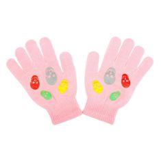 NEW BABY Dětské zimní rukavičky New Baby Girl světle růžové - 122 (6-7 let)