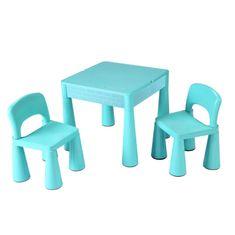 NEW BABY Dětská sada stoleček a dvě židličky NEW BABY mátová