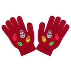 NEW BABY Dětské zimní rukavičky New Baby Girl červené - 122 (6-7 let)