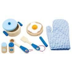 Viga Dětské dřevěné nádobí Viga-snídaně modré