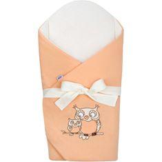 NEW BABY Zavinovačka s mašlí a výztuží New Baby Sovičky oranžová