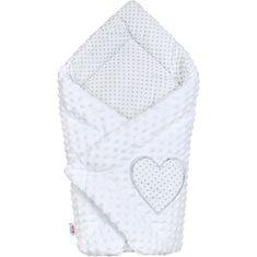 NEW BABY Luxusní Zavinovačka z Minky New Baby bílá 73x73 cm