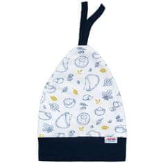 NEW BABY Kojenecká bavlněná čepička New Baby Hedgehog modrá - Kojenecká bavlněná čepička New Baby Hedgehog modrá