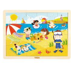 Viga Dětské dřevěné puzzle Viga Léto